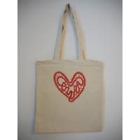 Tekstilna vrečka Srce