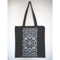Lace tote bag with zipper